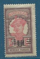 Martinique    -       Yvert N° 86 *        - Cw 13406 - Martinique (1886-1947)