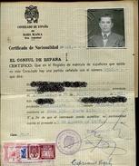 CERTIFICADO DE NACIONALIDAD CONSULADO DE ESPAÑA EN BAHIA BLANCA DERECHOS CONSULARES ZTU.