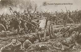 Guerre 1914-18- Ref L163- Illustrateur-  Poussee Francaise Au Nord D Arras - Carte Bon Etat   - - Guerre 1914-18