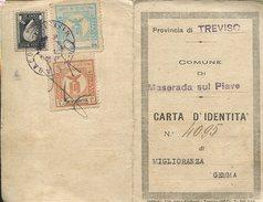 CARTA D IDENTITA COCUMENTO DE INDENTIDAD MUJER ITALIANA ZTU. - Documenti Storici