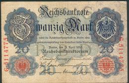 Deutsches Kaiserreich, 20 Mark 1910 Rosenberg 40b, Z.III - [ 2] 1871-1918 : Empire Allemand