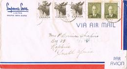 20719. Carta Aerea HALIFAX (Nova Scotia) Canada 1953