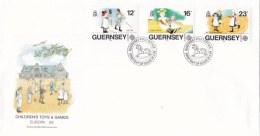 Guernsey 1989 FDC Europa CEPT - Children's Games (LAR2-K) - 1989