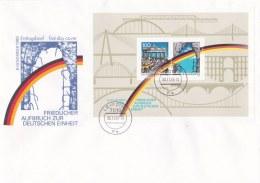 Germany FDC 1990 Friedlicher Aufbruch Souvenir Sheet (LAR2-K) - FDC: Buste