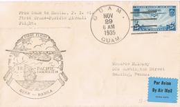 20721. Carta Aerea GUAM (USA) 1935. First Fligth Guam To Manila - Guam