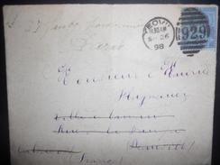 Grande Bretagne , Lettre De Yeovil 1898 Pour Deauville