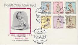 Luxemburg 1960 Caritas 6v FDC Card (34209A) - FDC