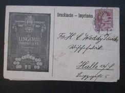 Österreich 1908 Nr. 141 Mit Perfin W.C. Drucksache. La Lingerie Parisienne / Unterwäsche / Mieder! Le Grand Chic. - 1850-1918 Imperium