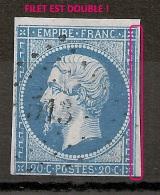 N° 14 FILET EST DOUBLE ! PC 513 BRETEUIL SUR ITON Eure. - 1853-1860 Napoléon III.