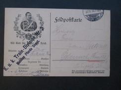 Österreich 1914 Feldpostkarte Mit Gott Für Kaiser Und Reich. K.u.K. Train Division Nr. 2 Mobiles Pferde Depot - Briefe U. Dokumente