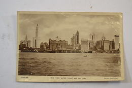 (AL2) CPA NEW YORK Water Front And Sky Line - Multi-vues, Vues Panoramiques