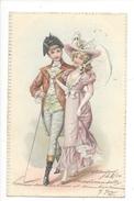 16085 - Charmant Couple Envoyée En 1901 Carte En Relief - Couples