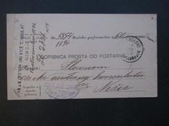 Österreich / Serbien 1913 K.u.K. Oesterr Vice Consulat In Nisch / Nis. Interessante Karte!! - Briefe U. Dokumente