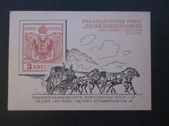 Österreich Postkarte Philatelistischer Verein Wiener Markensammler. Versammlung Im Cafe Alt-Wien - Stamps (pictures)