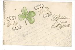 16088 - Bonheur Et Prospérité Cochons Porte-Bonheur Carte Envoyée De Vallorbe En 1899 Carte En Relief - Nouvel An