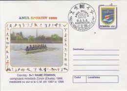 53738- CANOE 8+1 WOMEN TEAM, COVER STATIONERY, 1999, ROMANIA
