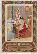 Chromo Repassage Fer à Repasser Ironing Publicité Amidon Hoffmann 11, 3 X 8,2 - Unclassified