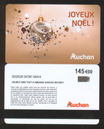 GIFT CARD - Carte Cadeau Auchan - JOYEUX NOEL - 120 € - CE CONFECTION DES FLANDRES - Cartes Cadeaux