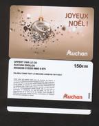 GIFT CARD - Carte Cadeau Auchan - JOYEUX NOEL - 150 € - CE AUCHAN ENGLOS - Cartes Cadeaux