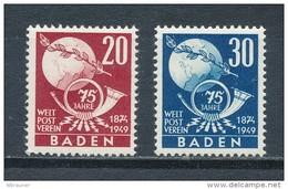 Französische Zone Baden 56/57 ** Mi. 16,- - Zone Française