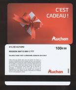 GIFT CARD - Carte Cadeau Auchan - C'EST CADEAU - 100 € - SYLVIE GUYARD - Cartes Cadeaux
