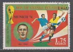 Equatorial Guinea 1974, Scott #7452 Riva (Ita), Soccer Player (U) - Guinée Equatoriale