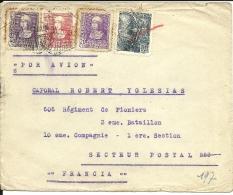 Lettre  Espagne 1938  Censure De  Barcelona Au Verso (36) - 1931-Hoy: 2ª República - ... Juan Carlos I
