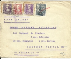 Lettre  Espagne 1938  Censure De  Barcelona Au Verso (36) - 1931-Today: 2nd Rep - ... Juan Carlos I