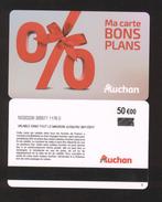 GIFT CARD - Carte Cadeau Auchan - BONS PLANS - 50 € - Cartes Cadeaux