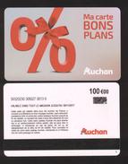 GIFT CARD - Carte Cadeau Auchan - BONS PLANS - 100 € - Cartes Cadeaux