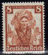 Deutsches Reich, 1935, Mi 592 ** Nothilfe-Volkstrachten [201216StkKV] - Alemania