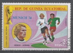 Equatorial Guinea 1974, Scott #7453 Hoeness (Ger), Soccer Player (U) - Guinée Equatoriale