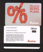 GIFT CARD - Carte Cadeau Auchan - BONS PLANS - 100 € - WORLDLINE - Cartes Cadeaux