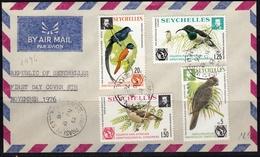 Seychelles 1976 Ornithological Congress FDC - Seychelles (...-1976)