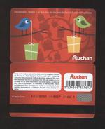 GIFT CARD - Carte Cadeau Auchan - OISEAUX - Cartes Cadeaux