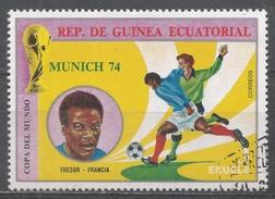 Equatorial Guinea 1974, Scott #7456 Tresor (Fra), Soccer Player (U) - Guinée Equatoriale