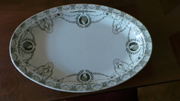 RARE Antique 19c Hand Painted RUSSIAN Old Kuznetsov Porcelain BIG Dish Plate - Ceramics & Pottery