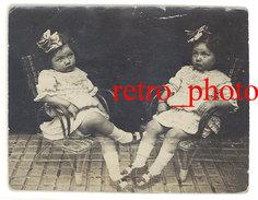 Photo Fillette Prise En Double, Surréalisme Amateur, Montage, Photomontage - Photos