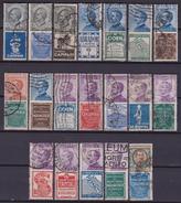 Italia Regno 1924-25 Serie Pubblicitari 1/19 Usati - Cert. Vari - 1900-44 Vittorio Emanuele III