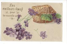 16108 -   Les Meilleurs Voeux Pour La Nouvelle Année Corbeille De Viollettes - Nouvel An