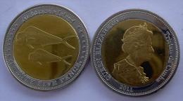 TRISTAN DA CUNCHA 2011 25 PENCE BIMETALLICA SQUALO FDC UNC - Coins