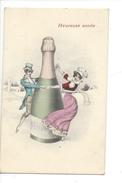 16109 -   Heureuse Année Couple Encerclant Bouteille De Champagne - Nouvel An