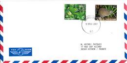 LETTRE COVER NEW ZELAND WANGANUI - ORANGE FRONTED PARAKEET - OKARITO BROWN KIWI - Birds