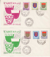 Luxemburg 1959 Caritas / Arms 6v On 2 FDC (34209E) - FDC