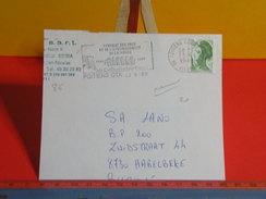 Marcophilie > Flamme > 86 Vienne > Poitiers > Syndicat Des Eaux -1989 - Marcophilie (Lettres)