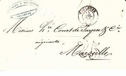 PREPHILATELIE FRANCE- DE LAMARQUE Y ROUMINGAS DE TOULOUSE POUR MARSEILLE   ---1853--- - Postmark Collection (Covers)
