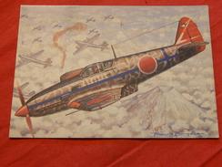 "MILITARIA  -  AVIONS DE CHASSE -  "" Kawasaki Ki 61 Hien  (Japon)  - (Dessin F. Bergèse ) - Guerre 1939-45"