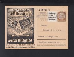 Dt. Reich PK 1940 NS Wohlfahrt - Briefe U. Dokumente