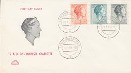 Luxemburg 1964 Definitives /  S.A.R. Grand-Duchesse Charlotte 3v FDC (34209L) - FDC