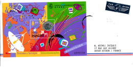 LETTRE COVER MACAO MACAU CHINA  - BLOC YV N°78 - Mi N°67 - TRANSFERENCIA DE SOBERANIA 07 1999 - 1999-... Sonderverwaltungszone Der China